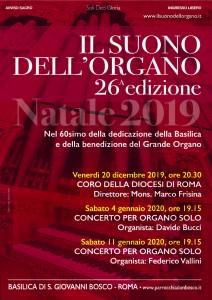 Concerto di Natale per organo solo @ Basilica di S. Giovanni Bosco